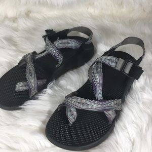 Chacos Purple Blue Geometric Pattern Size 10